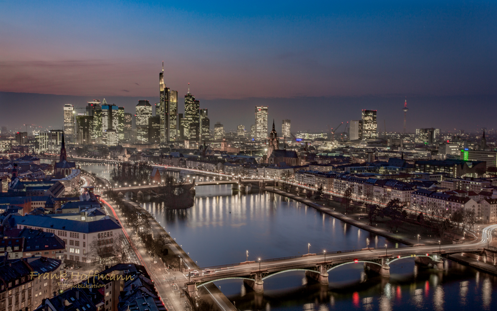Banken Skyline Frankfurt am Main.